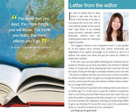 Editor S Letter Magazine