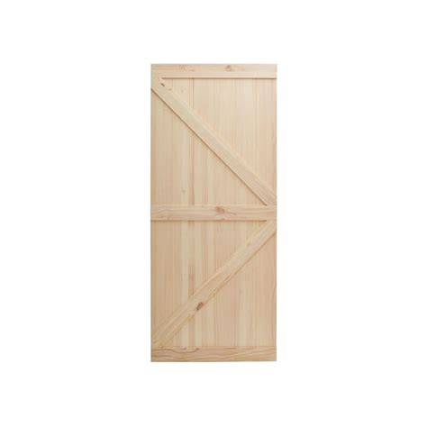 42 X 84 Exterior Door by Calhome 42 In X 84 In Barn Style Solid Pine Interior