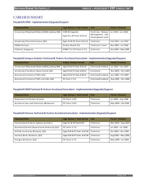 resume of krishnakumar vattappilly peoplesoft consultant