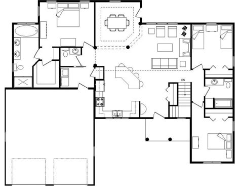 modern open floor plan best open floor house plans cottage house plans