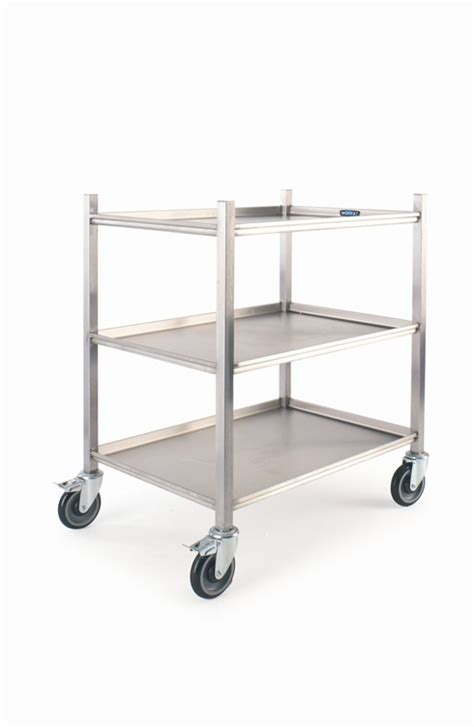 Kitchen Trolley by Moffat 800mm Mobile Kitchen Trolley 3 Shelves