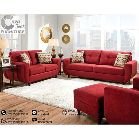 Daftar Sofa Bed Minimalis Murah set sofa ruang tamu minimalis retro arka createak furniture