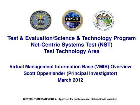 test technology overview ppt download ppt test evaluation science technology program net