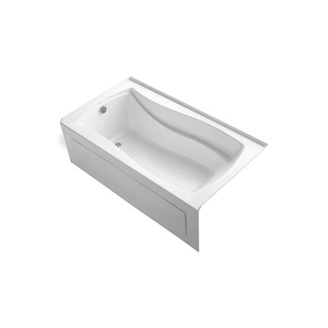 kohler acrylic bathtub reviews kohler mariposa 5 5 ft left hand drain integral apron acrylic bathtub in white k 1229