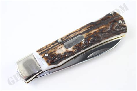 hartkopf stag folding pocket knife german knife shop
