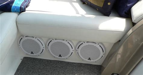 boat speakers installation browse our gallery marine audio video installation