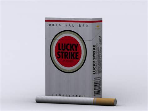 Setrika Filiph lucky strike cigarettes box 3d model max cgtrader