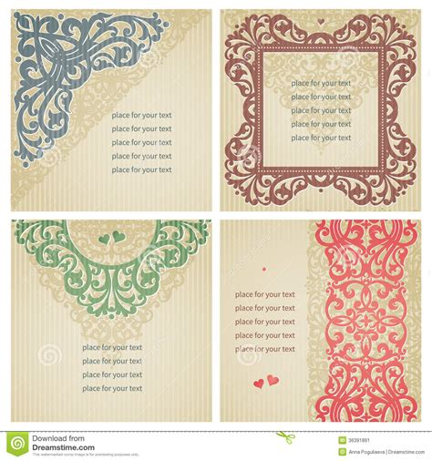 vintage style photo cards template vintage greeting cards stock vector image of event