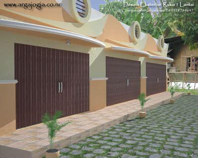desain eksterior toko desain fasad eksterior ruko 1 lantai blognya wong sipil