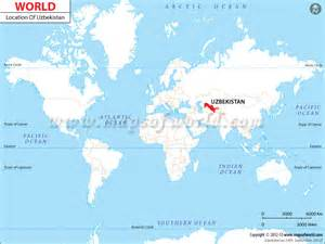 world map location where is uzbekistan location of uzbekistan