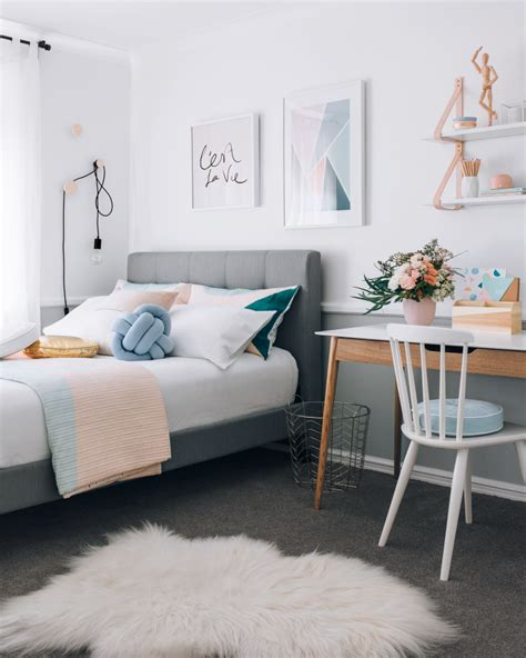 teenager beds a warm pastel scandinavian style bedroom home decor