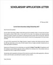 College Scholarship Application Essay Sle by Application Letter Formats
