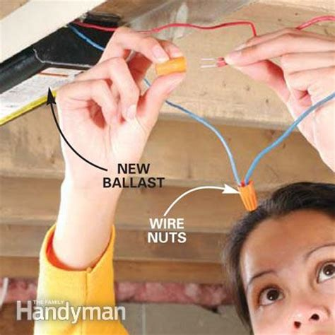 How To Replace A Fluorescent Light Ballast The Family How To Change Ballast In A Fluorescent Light Fixture