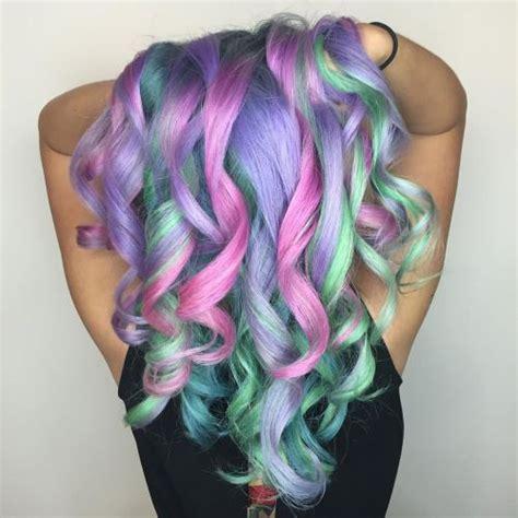 rad rainbow hair color ideas pastel  bright shades