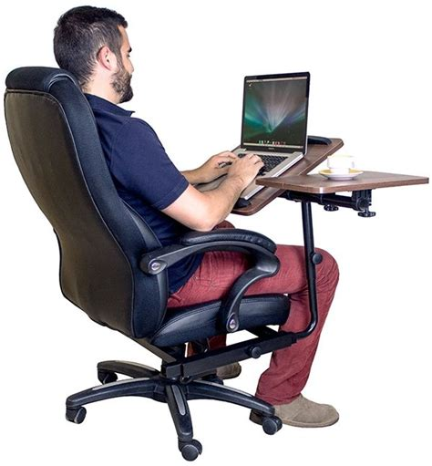 Office Chair With Integrated Laptop Desk Furniture Laptop Desk And Chair