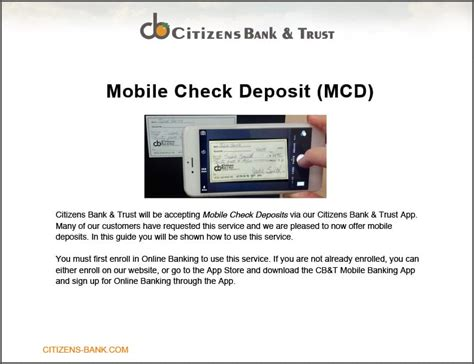 mobile bank deposit citizen s bank and trust mobile check deposit citizen s