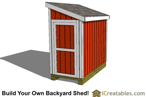 4x8 Shed Plans Free by 4x8 Lean To Shed Plans Build Your Own Shed Icreatables
