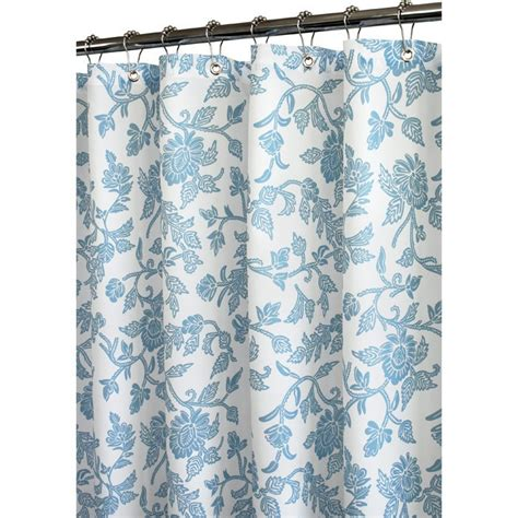 french blue curtains fleur shower curtain white french blue home pinterest