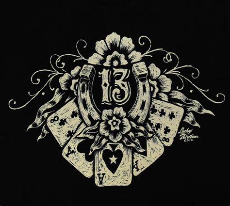 lucky 13 tattoos lucky 13 thirteen lucky casino t shirt