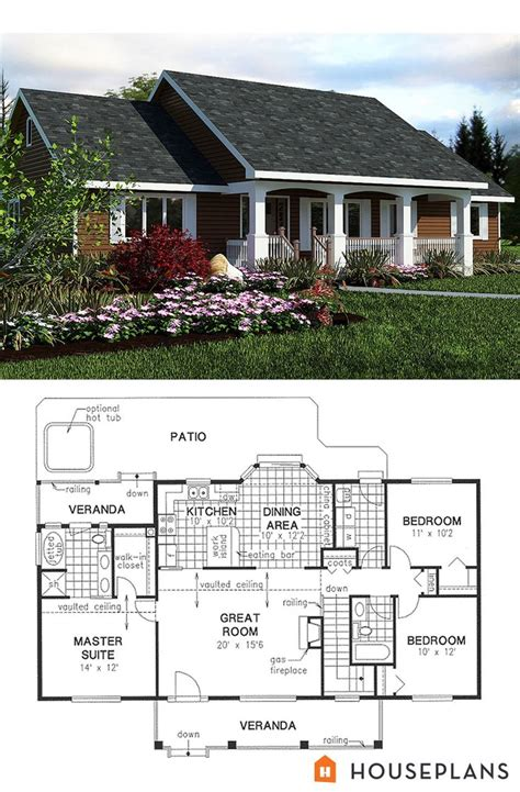 simple country house plan 1400sft 3bedroom 2 bath house