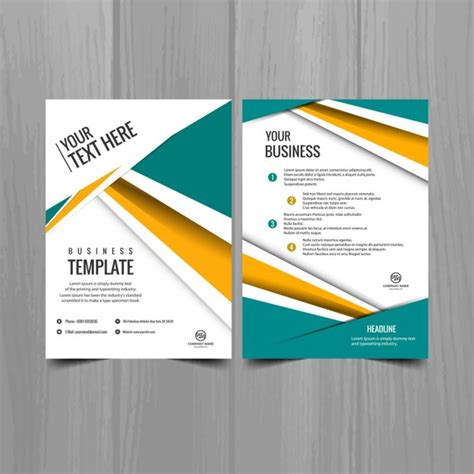beautiful modern brochure template vector free download