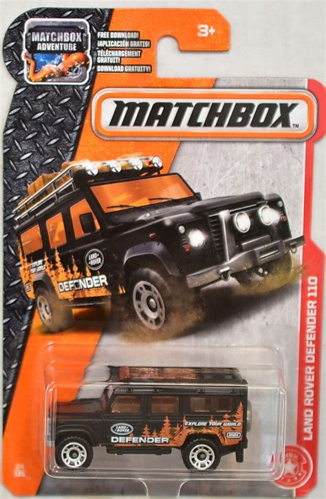 matchbox land rover defender 110 2016 matchbox 2017 adventure land rover defender 110 black 94