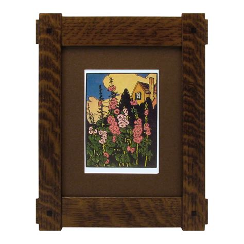 Handcrafted Picture Frames - craftsman frame through tenon mt2022 solid wood frames
