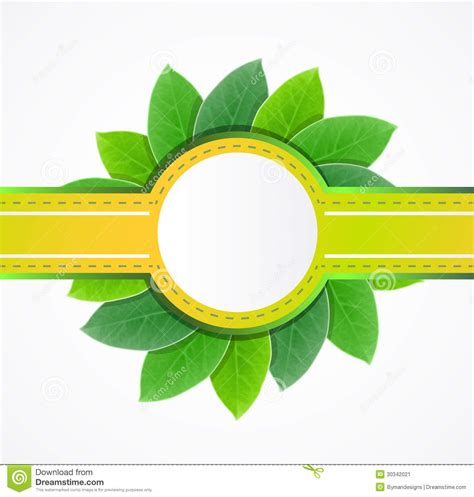 Beschriftung Laubblatt by Vector Leaf Label Stock Image Image 30342021