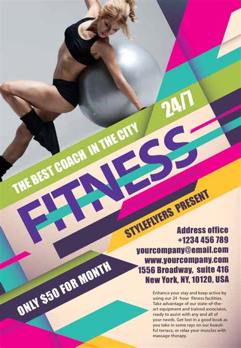35 Best Free Flyer And Poster Psd Templates Designssave Com Fitness Poster Template Free