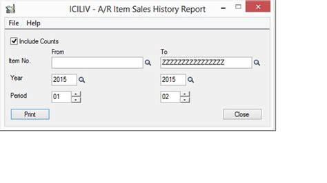 sle history report find the a r items sales history 300 erp tips
