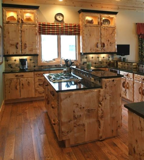 rustic kitchen cabinets design craftsman style furniture burl wood kitchen cabinets