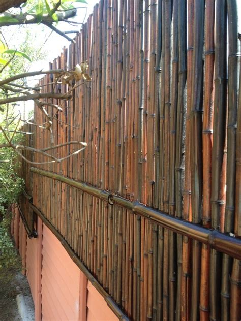 Backyard Balcony Ideas Quot Mosso Quot Bamboo Wall Extension Done With Mahogany Bamboo
