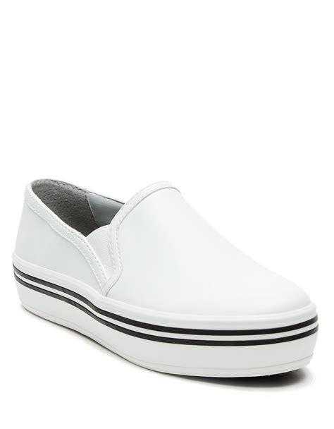 white slip on sneakers dolce vita jinsy platform slip on sneakers in white lyst