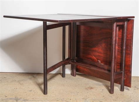 Drop Leaf Folding Dining Table Compact Folding Rosewood Drop Leaf Dining Table At 1stdibs