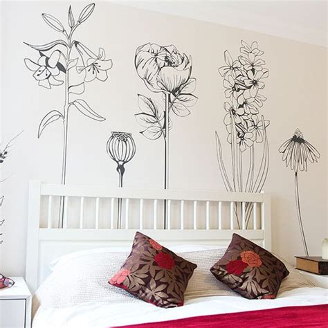 flower stickers for wall best 25 flower wall decals ideas on wall