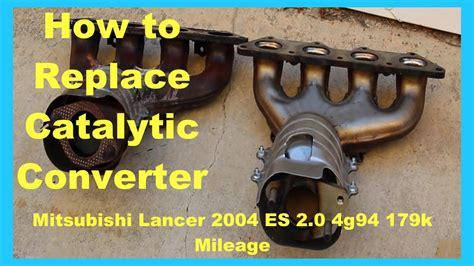 mitsubishi p0421 mitsubishi lancer fix catalytic converter replacement