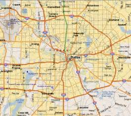 map dallas and surrounding area