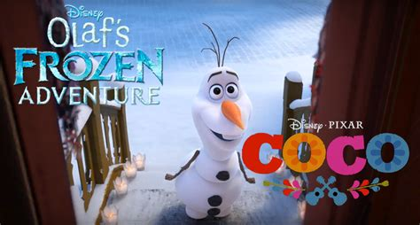 film coco dan frozen disney s olaf s frozen adventure featurette to be paired