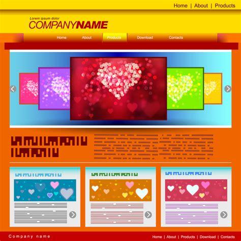 free website templates for adobe illustrator love website templates free vector in adobe illustrator ai