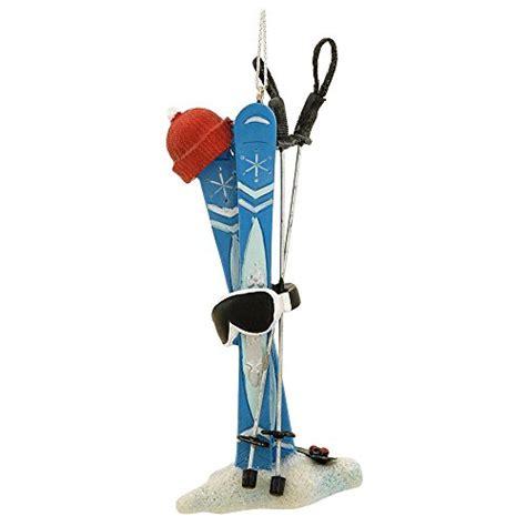 snow skis hat goggles poles ski equipment christmas