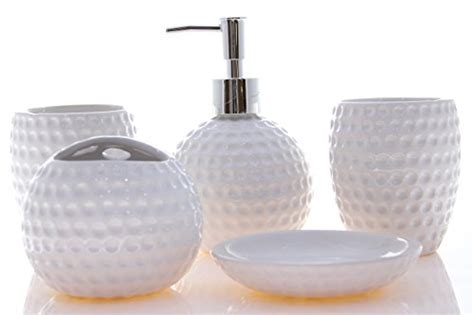 golf bathroom set justnile 5 piece ceramic bathroom accessory set white golf ball home garden accessories