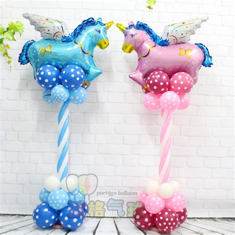 Balon Foil Fly aliexpress buy 1set unicorn fly upright helium balloons birthday