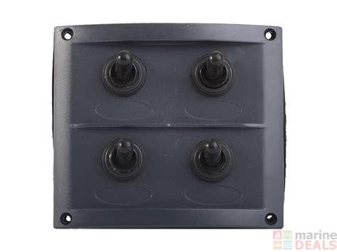 marine switch panel nz buy splashproof 4 way switch panel online at marine deals