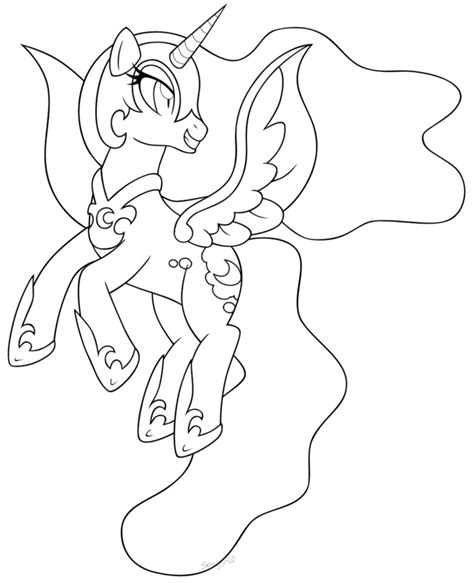 coloring page nightmare moon inked nightmare moon 2 by mintystitch on deviantart