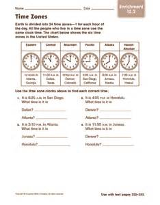 us time zone map worksheet maths worksheets time zones