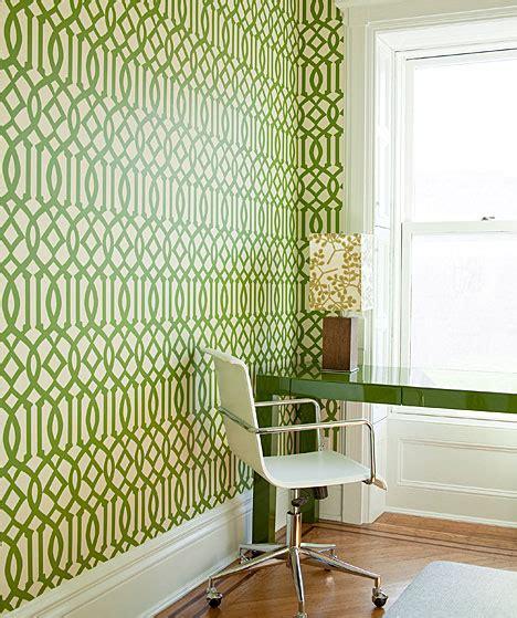 Green Trellis Wallpaper Imperial Trellis Wallpaper Contemporary Den Library