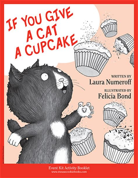 is for cat a gift book books if you give a cat a cupcake event kit printable