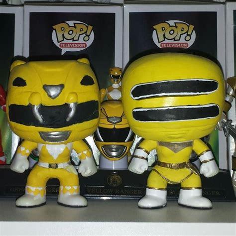 Funko Pop Original New Power Rangers Yellow Ranger custom yellow ranger and yellow zeo ranger my custom pops ranger and yellow