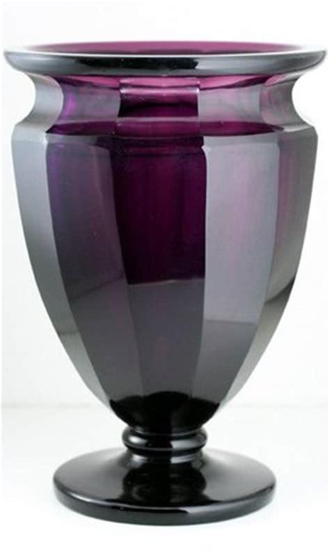 Moser Vases Value by Moser Facet Cut Amethyst Glass Vase 35351 Price Value