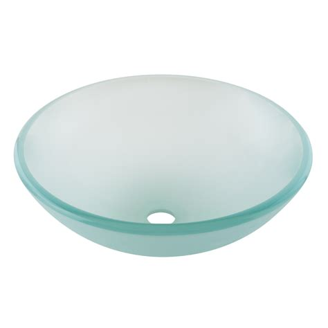 glass vessel sinks bathroom shop aquasource green glass vessel bathroom sink at lowes com